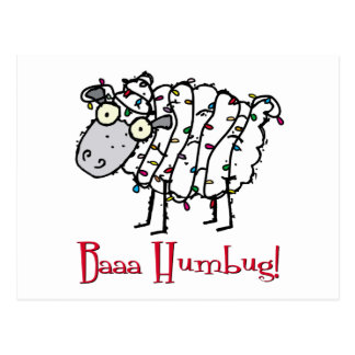 Baaa Humbug Christmas Postcard