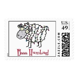 Baaa Humbug Christmas Stamps