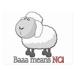 Baaa means NO! Postcard