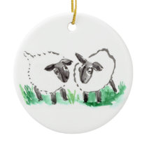 Baaaaaaa Says the Sheep Ceramic Ornament