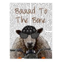 Baaad To the Bone Postcard