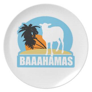 Baaahamas Beach Dinner Plate