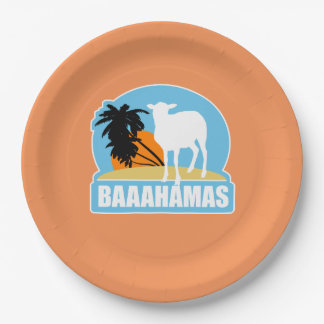 Baaahamas Beach Paper Plate