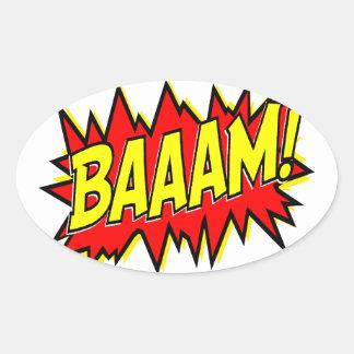 BAAAM! OVAL STICKER