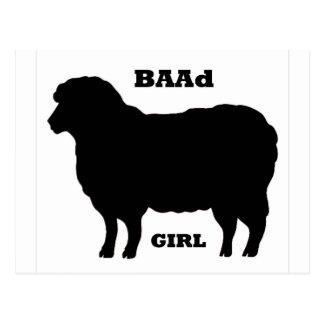 """""""BAAD Girl"""" on white Postcard"""