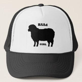 """""""BAAD Girl"""" on white Trucker Hat"""