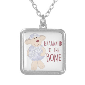 Baad To Bone Square Pendant Necklace