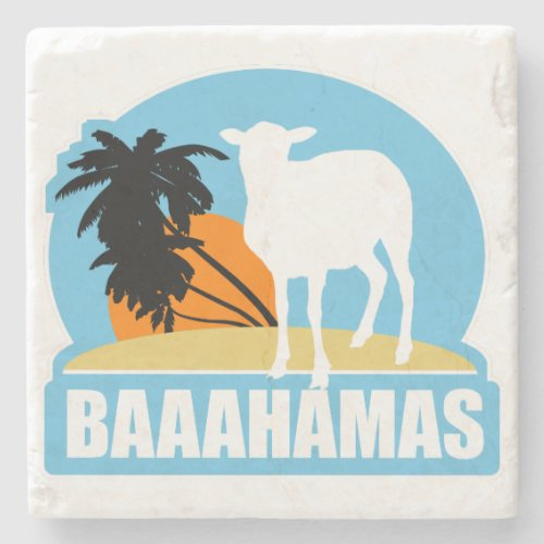 Baahamas Beach Vintage Stone Drinks Coaster