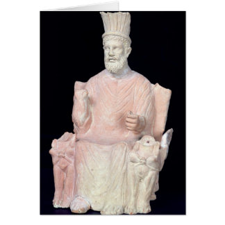 Baal Hammon seated on his throne Card