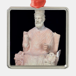 Baal Hammon seated on his throne Metal Ornament