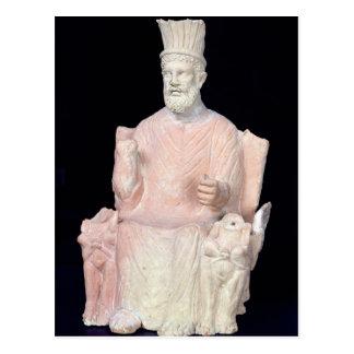 Baal Hammon seated on his throne Postcard