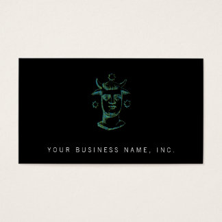 Baal (letterpress style, two colors) business card