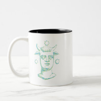 Baal (letterpress style, two colors) Two-Tone coffee mug