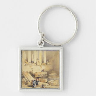 Baalbec, plate 79 from Volume II of 'The Holy Land Silver-Colored Square Keychain