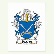 Baalen Family Crest Postcard