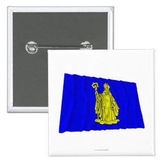 Baarle-Hertog Waving Flag Pinback Buttons
