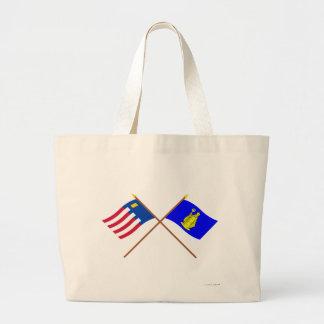 Baarle-Nassau and Baarle-Hertog Crossed Flags Bags