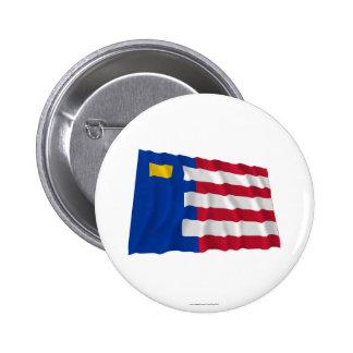 Baarle-Nassau Waving Flag Pinback Button