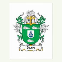 Baars Family Crest Postcard
