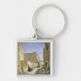 Bab-EL-Gharbi el camino, Laghouat, 1859 Llavero Cuadrado Plateado