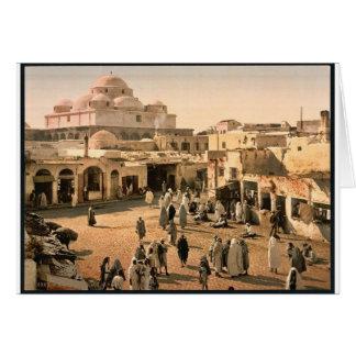 Bab Suika-Suker Square, Tunis, Tunisia vintage Pho Greeting Card