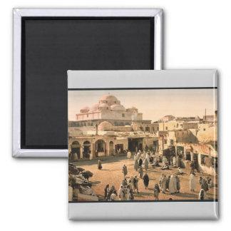 Bab Suika-Suker Square, Tunis, Tunisia vintage Pho Magnet