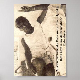 Baba Amte Poster: On Determination