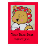 Baba Bear by Vera Trembach to Personalize Greeting Card