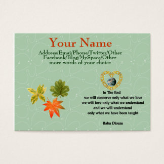 Baba Dioum Quote Business Card