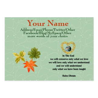 Baba Dioum Quote Large Business Card