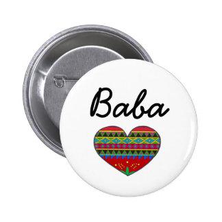 Baba Love Ukrainian Folk Art Button