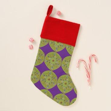 Baba Yaga Mandala Christmas Stocking