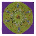 Baba Yaga Mandala Trivet