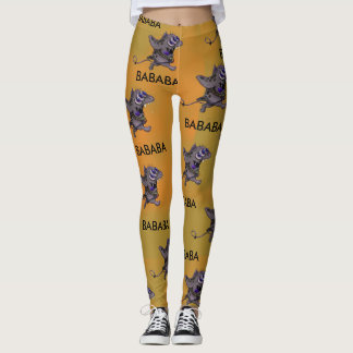 BABABA CUTE DOGGY ALIEN CARTOON LEGGINGS 2