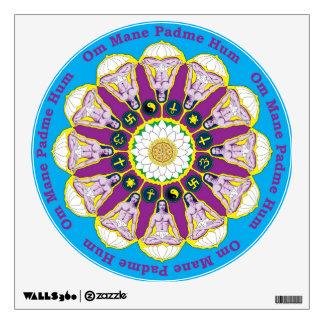 Babaji Mandala Decal with Mantra Circle