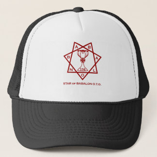 Babalon all red logo.tif trucker hat