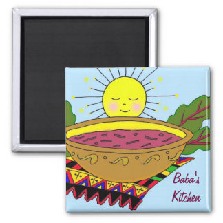 Baba's Kitchen 2 Inch Square Magnet