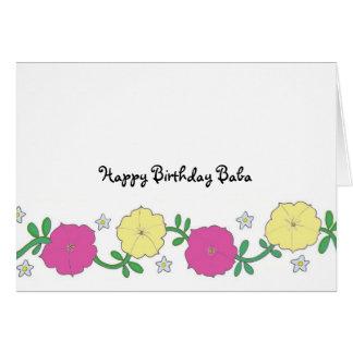 Baba's Petunias - Happy Birthday Baba Greeting Card