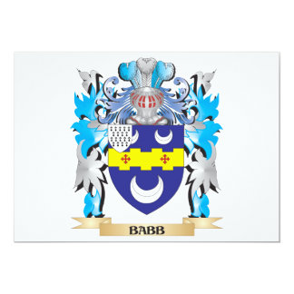 Babb Coat of Arms Personalized Invites