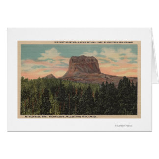 Babb, MT - View of Big Chief Mountain from Hwy Greeting Cards
