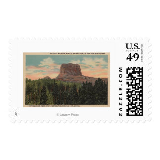 Babb, MT - View of Big Chief Mountain from Hwy Postage Stamps