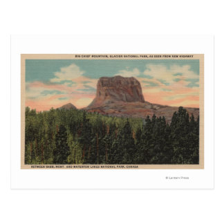 Babb, MT - View of Big Chief Mountain from Hwy Post Card