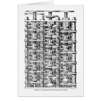 Babbage Difference Engine Card