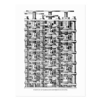 Babbage Difference Engine Postcard