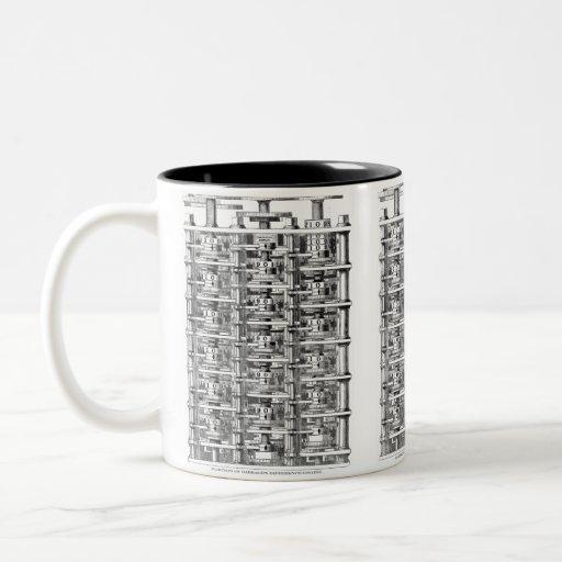 Babbage Difference Engine Two-Tone Coffee Mug