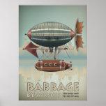 Babbage por viaje del vintage de Steampunk del dir Impresiones