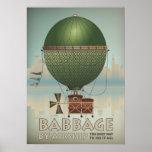 Babbage por viaje del vintage de Steampunk del dir Posters