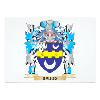 Babbs Coat of Arms Personalized Invite
