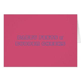 Babby feets n' Budder Cheeks Congrats Card