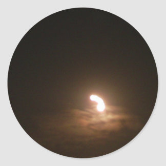 babby moon. interesting photograph classic round sticker
